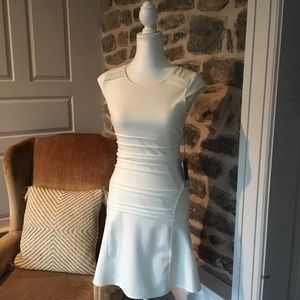 Jlo white dressy dress classy wedding prom formal